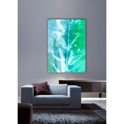 Jen Lee Art Leaf House Canvas Art