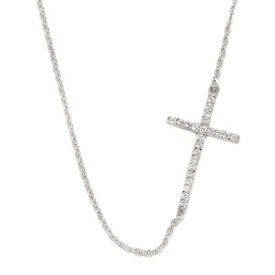 DK Sterling Sterling Silver Sideways Cross Necklace