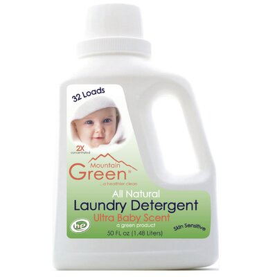 Mountain Green Free and Clear Baby Laundry Detergent