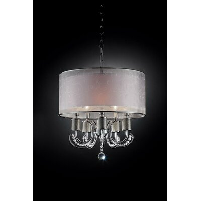 Newport 5 Light Crystal Pendant