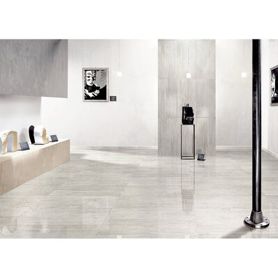 "Samson Travertini 12"" x 24"" Floor and Wall Tile in Grigio (Box of 7)"