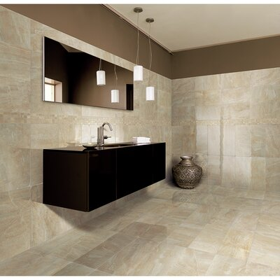 "Samson Tile Anthology 16.75"" x 16.75"" Matte Floor Tile in Beige (Box of 7)"