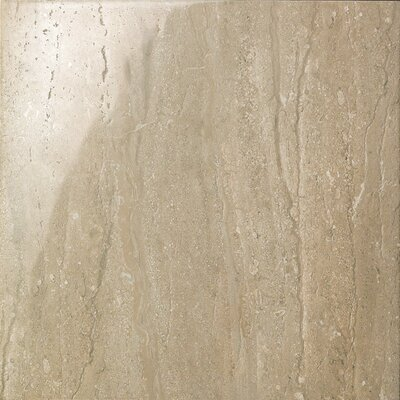 "Samson Tile Travertini 16.75"" x 16.75"" Floor and Wall Tile in Noce (Box of 7)"