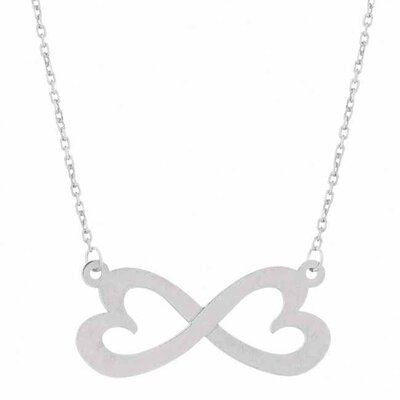 Flirt Jewelry Sterling Silver Infinity Heart Necklace