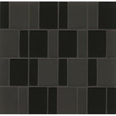Random Sized Mosaic Brick Pattern Tile in Midnight