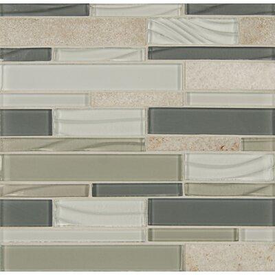 Random Sized Stone Mosaic Linear Tile in Chestnut