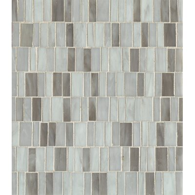 Random Sized Mosaic Blend Tile in Silver Mist
