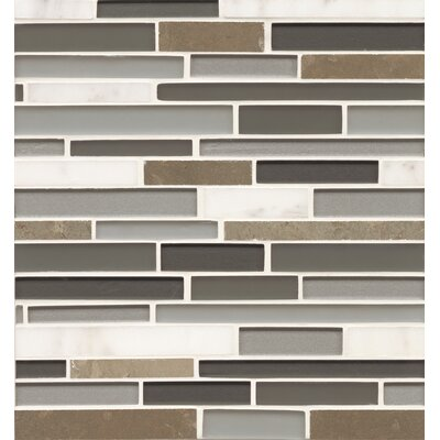 Bedrosians Random Sized Mosaic Interlocking Stone/Glass Blends in Long Island Manhattan Glass