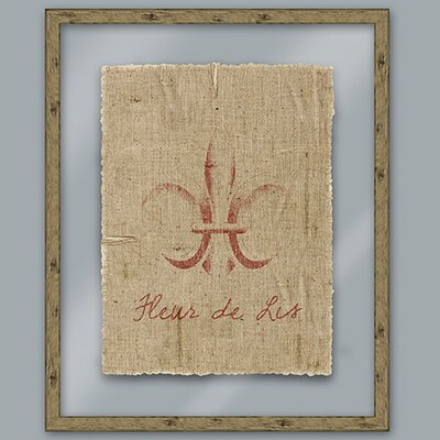 Red Fleur De Lis Framed Graphic Art
