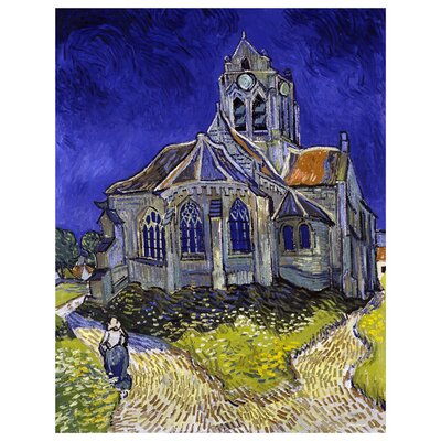 'The Church at Auvers' by Vincent Van Gogh Painting Print on Canvas