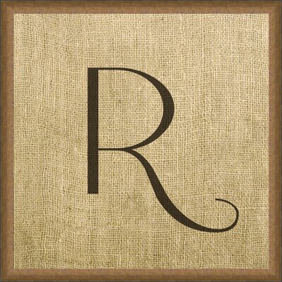 Vintage Linen Monogram Framed Graphic Art