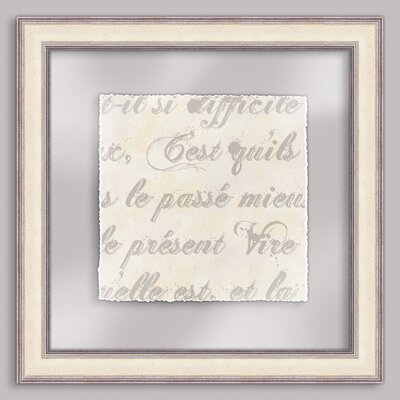 Epic Art French Writing III Wall Art