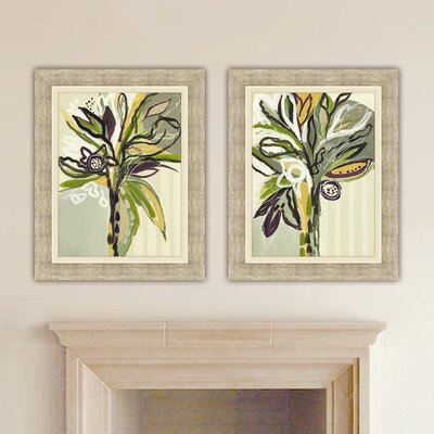 Serene Floral 2 Piece Set Framed Graphic Art