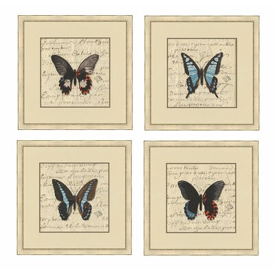 Epic Art Butterfly Letters I Wall Art Collection
