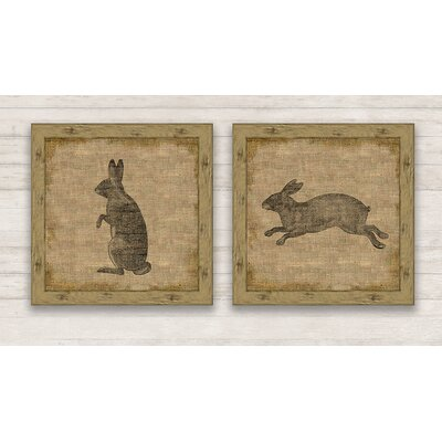 Garden Rabbit Framed Graphic Art