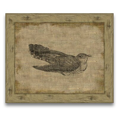 Animal on Antique Linen Framed Graphic Art