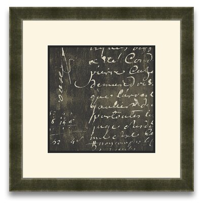 Epic Art Rich Script Journal I Wall Art