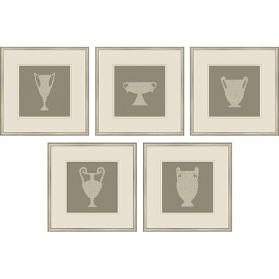 Epic Art Silhouette Vase Wall Art (Set of 5)
