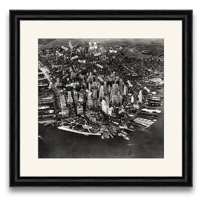 Ny City Districts Circa 1933 Framed Photographic Print