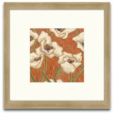 Epic Art Patterns of Passion Persimmon Floral I Wall Art