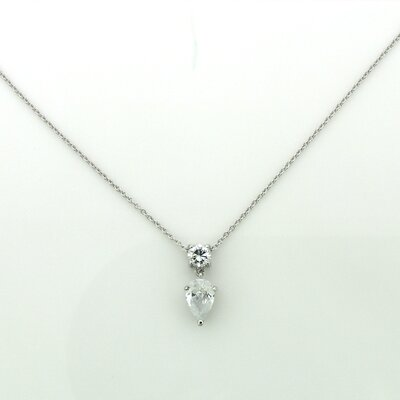 Splendor Jewelry Sterling Silver Cubic Zirconia Necklace