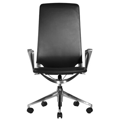 Wobi Office Marco High-Back Leather Chair with Adjustable Armrest