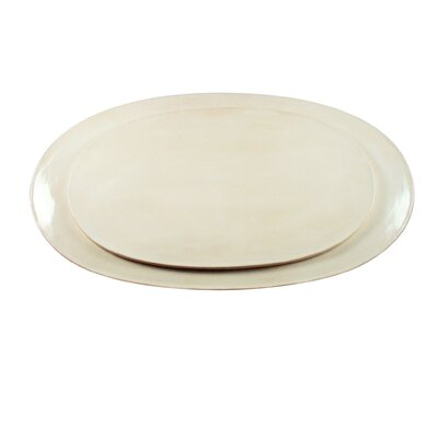 "Canvas Home Seagate 14"" Oval Platter"