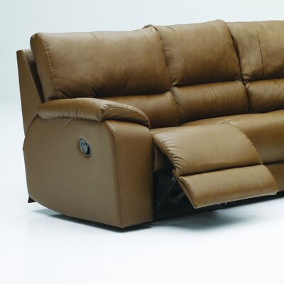 Palliser Furniture Shields Leather Reclining Sectional