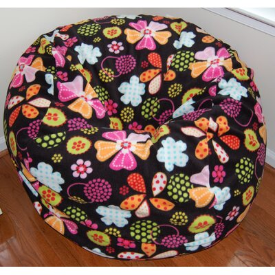 Ahh! Products Flowers Dots Anti-Pill Fleece Bean Bag Chair