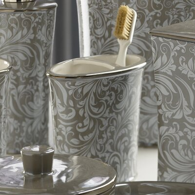 Trump Home Bedminister Scroll Toothbrush Holder in Flint Grey