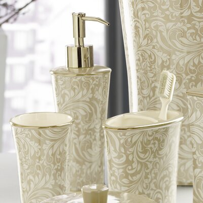 Trump Home Bedminister Scroll Lotion Dispenser in Crème Brule