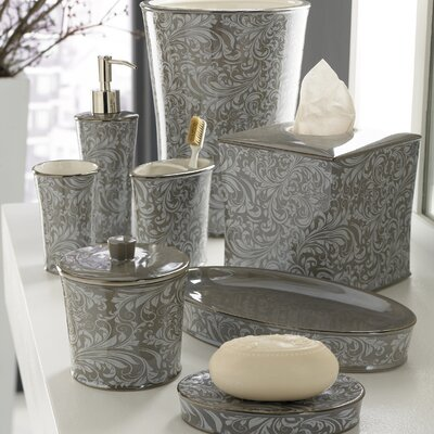 Trump Home Bedminister Scroll Bath Accessory Collection in Flint Grey