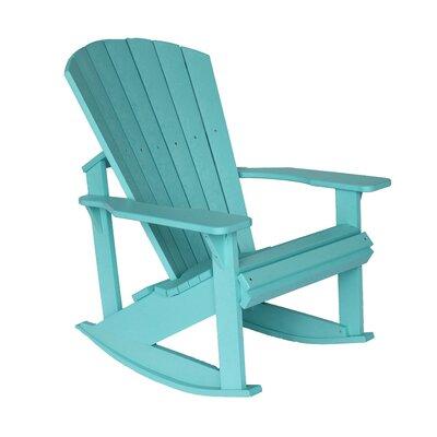 blue outdoor rocking chair wayfair