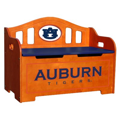 NCAA Stained Kid's Storage Bench
