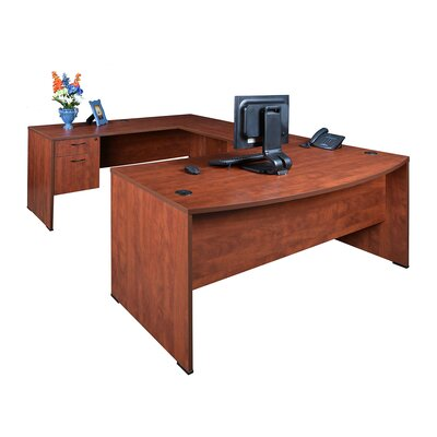 "Regency Double Pedestal ""U"" Executive Desk"