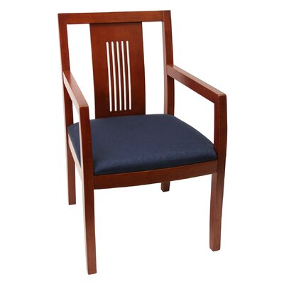 Regency Preston Guest Side Chair with Transitional Wood Back