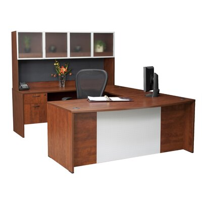 Regency Deluxe Bow-Front U Executive Desk with Hutch