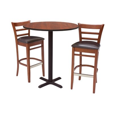 Regency Zoe Stools and Round Café Table