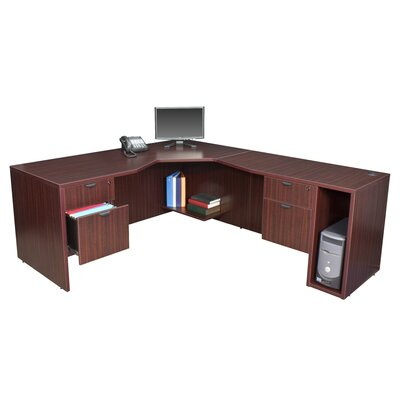 "Regency Legacy 71"" L Desk with Angled Corner - Right"