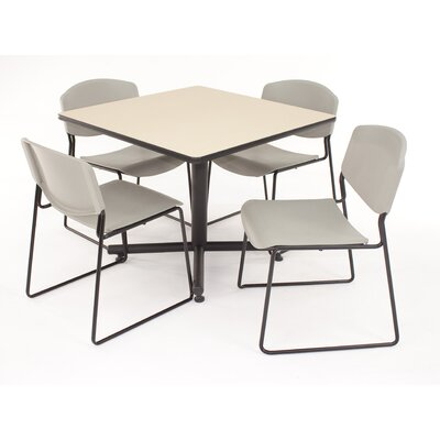 Regency Hospitality Four Zeng Chairs with Square Table
