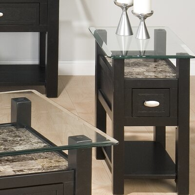 Beveled Edge End Table
