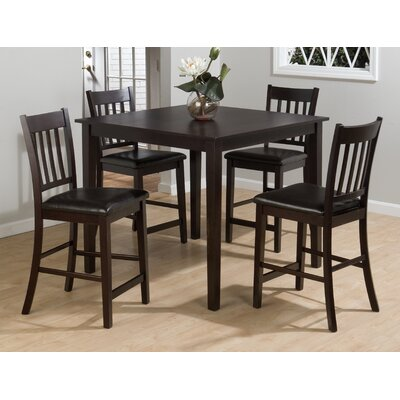 Jofran Marin Country Merlot 5 Piece Pub Table Set