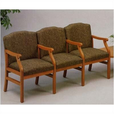 Lesro Madison Three Seats with Wood Legs