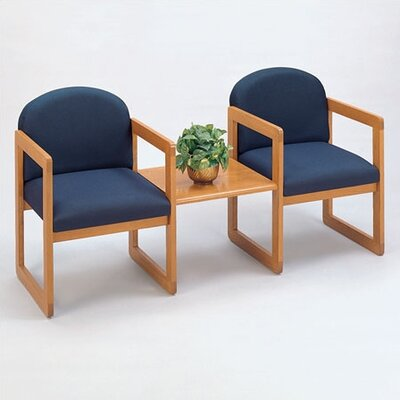 Lesro Classic Two Chairs with Connecting Center Table