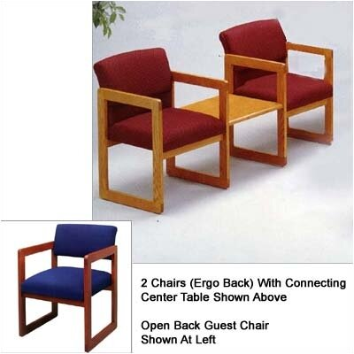 Lesro Classic Two Open Back Chairs with Center Table