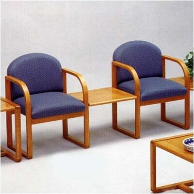 Lesro Contour Two Chairs with Connect Table