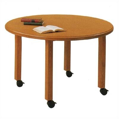 Lesro Contemporary Series Round Gathering Table (4 Post Base with Casters)