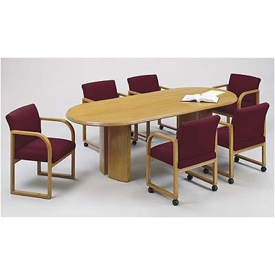 Lesro Contemporary Series  Oval Conference Table (Split Curved Panel Base)