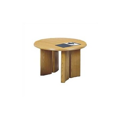 "Lesro Contemporary Series 48"" Round Gathering Table with Radius Profile (Split Curved Panel Base)"