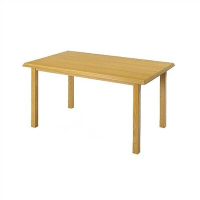 "Lesro Contemporary Series 60"" Rectangular Gathering Table with Radius Profile (4 Post Base)"